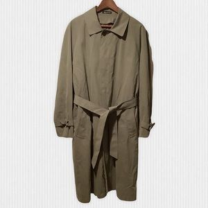 Vintage Sanyo Cotton Wool Belted Trench Coat 36R/L